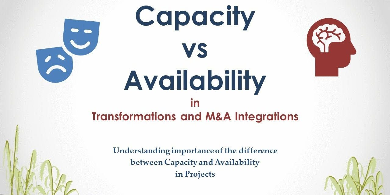 Confused between Capacity vs. Availability of resources in Projects?