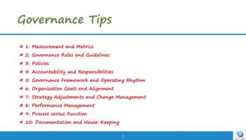 governance tips